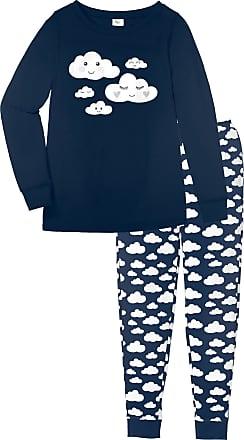 8bce3bc973cc Bonprix Pyjama Bio-Baumwolle langarm in blau von bonprix