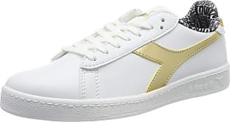 Diadora Womens Game Charm Wn Gymnastics Shoes, White (Bianco Ottico/Oro Vivo C3250), 6 UK