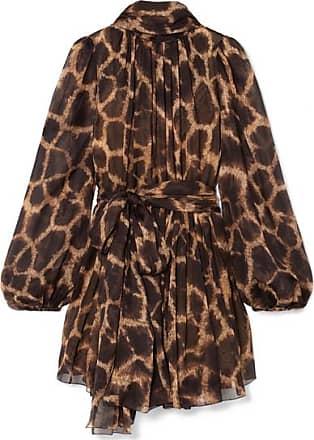 5357d56dbd81a Dolce   Gabbana Mini-robe En Mousseline De Soie À Imprimé Animalier Et À Col