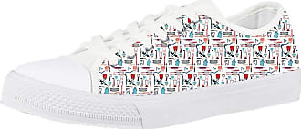 Coloranimal Dentist/Diagra/Tooth/Surgeon/Doctor Nurse Bear Casual Shoes for Women Trainer Running Vulcanize Flats Fitness Outdoor Low-top Canvas Shoes Jogging Gym