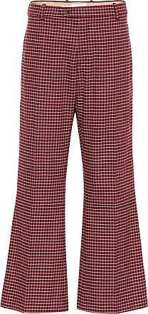 Chloé Plaid wool-blend pants