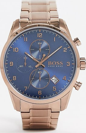 BOSS coffee gold chrono bracelet watch 1513788