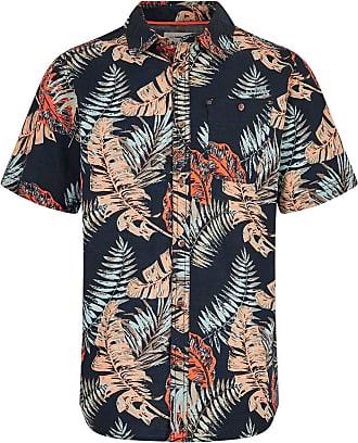 Weird Fish Dashbeck Short Sleeve Hawaiian Print Shirt Navy Size 2XL