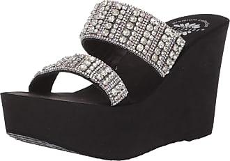 Yellow Box Feliks Silver Glitter Women/'s Flip Flops Sandals