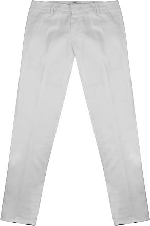 Dondup Pantalone Uomo in Cotone Bianco UP235GSE045 Bianco 31