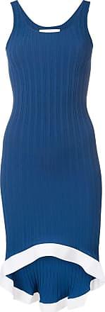 Esteban Cortazar Vestido canelado - Azul
