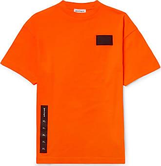 Palm Angels Appliquéd Cotton-jersey T-shirt - Orange