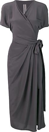 Rick Owens Vestido longo com transpasse - Cinza