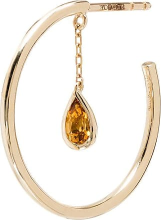 Yvonne Léon Creole Pampille 9kt citrine hoop earring - Gold