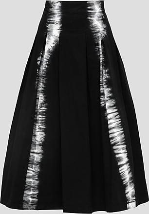 Msgm skirt in denim with tie dye print