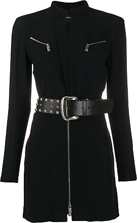 John Richmond belted fitted dress - Black