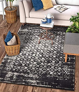 Well Woven 22675 Sydney Vintage Manchester Grey Modern Mosaic Distressed Area Rug 53 x 73