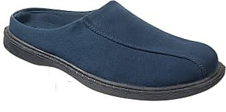 Zedzzz Mens Navy Blue Suede Look Mule Slippers (7)