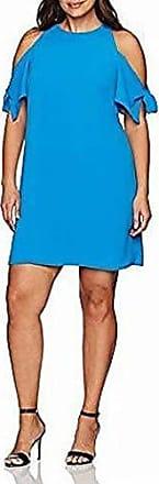 London Times Womens Plus Size Cold Shoulder V Neck Jersey Blouson Dress