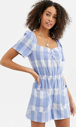 Urban Bliss livia gingham playsuit-Blue