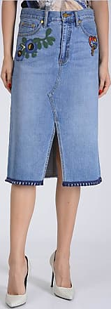 Tom Ford Embroidery Denim Skirt size 2