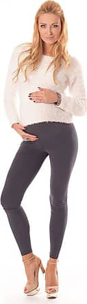 Purpless Maternity Leggings Pregnancy Belly Support Stretchy Long Over Bump Cotton Trousers for Pregnant Women 1000 (18, Graphite)