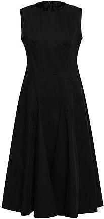 Derek Lam Derek Lam Woman Flared Cotton-blend Midi Dress Black Size 44