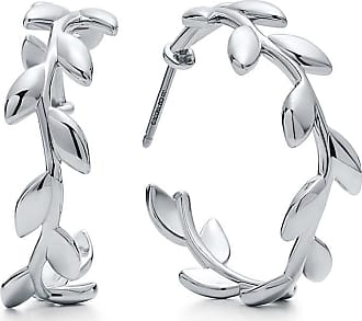 Tiffany & Co. Paloma Picasso Olive Leaf hoop earrings in sterling silver