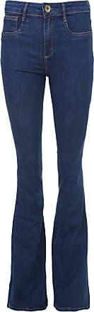 Lança Perfume Calça Jeans Lança Perfume Flare Pespontos Azul