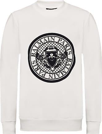 Balmain Patterned Sweatshirt Womens White