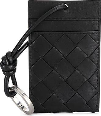 Bottega Veneta Intrecciato neck-strap cardholder - Preto
