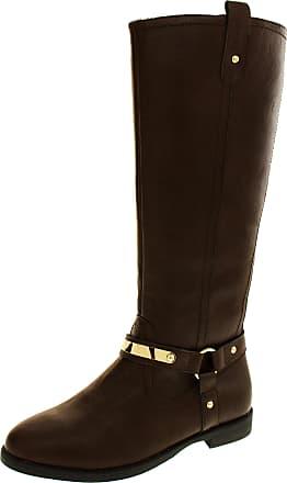 Footwear Studio Keddo Womens Brown Faux Leather Faux Fur Lined Biker Boots 4 UK (37 EUR)