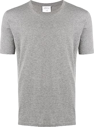 Brioni Camiseta decote arredondado - Cinza