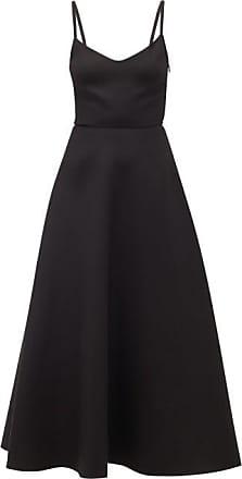 Valentino V-neck A-line Wool-blend Dress - Womens - Black