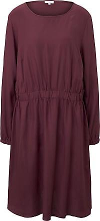 Tom Tailor Kleid mit elastischer Taille, Damen, Deep Burgundy Red, Größe: 54