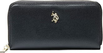 U.S.Polo Association U.S. POLO ASSN. Jones L Zip Around Wallet Black