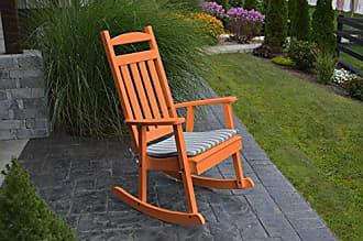 A & L Furniture A & L Furniture Poly Classic Rocker Chair, Orange