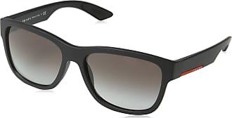 b3dc66ed93 Prada Sport Mens 0Ps03Qs Dg00A7 57 Sunglasses, Black Rubber/Greygradient