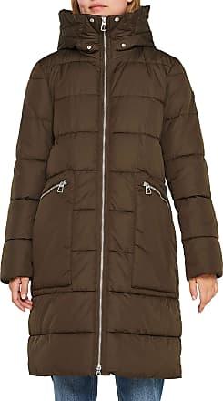 EDC by Esprit Womens 109cc1g001 Coat, Green (Dark Khaki 355), X-Small