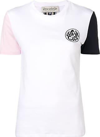 être cécile contrast sleeve rib T-shirt - White