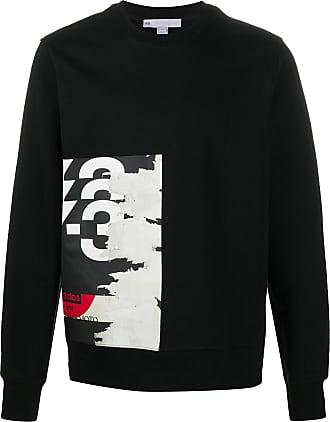 Yohji Yamamoto logo print sweatshirt - Preto