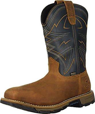 Irish Setter Work Mens Marshall Waterproof Steel Toe 11 Pull-On Boot, Brown/Blue, 9 2E US