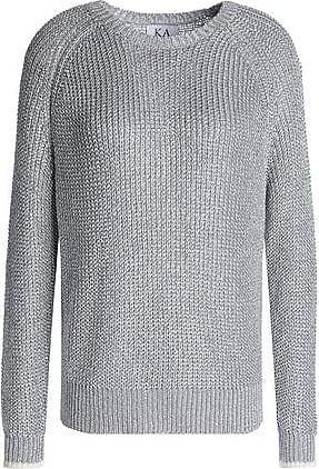 Zoe Karssen Zoe Karssen Woman Metallic Knitted Sweater Silver Size XS