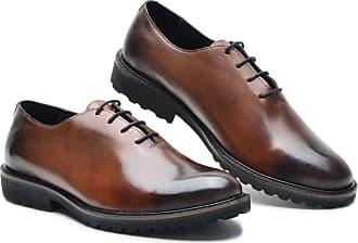Generico Sapato social masculino, em legitimo couro bovino tipo finioli, solado de borracha modelo P5001 numeração 37 ao 49 (43, P5001 finioli Whisky)