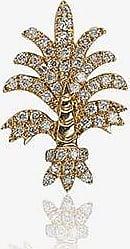 Yvonne Léon Womens Metallic 18k Yellow Gold Bo Fleur Diamond Single Earring