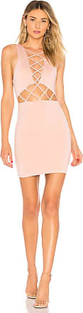 by the way. Lauryn Lace Up Cut Out Dress in Blush