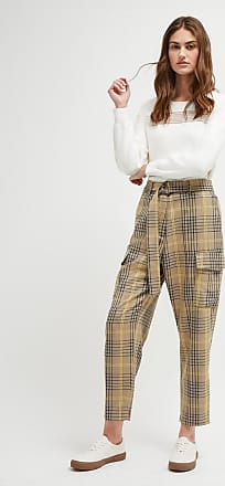 French Connection Aishah Woven Check Trousers