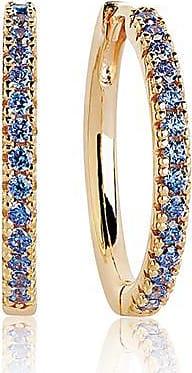 Sif Jakobs Jewellery Earrings Ellera Grande - 18k gold plated with blue zirconia