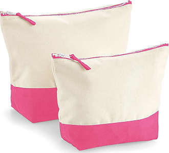 Westford Mill Dipped Base Canvas Accessory Bag (L) (Natural/True Pink)
