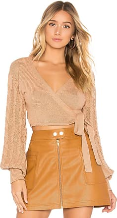 Tularosa Sari Wrap Sweater in Tan
