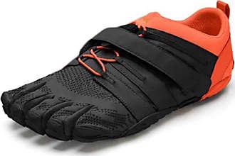 Vibram Fivefingers Mens V-Train 2.0 Sneaker, Black/Orange, 10 UK