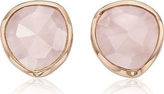 Monica Vinader Siren Stud Rose Quartz earrings - PINK