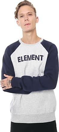 Element Moletom Flanelado Fechado Element Baseball Cinza