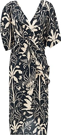 Johanna Ortiz Modern Visionary Crepe De Chine Dress - Womens - Black Cream