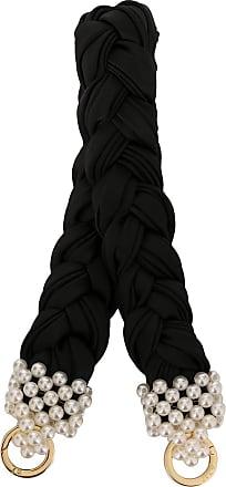 0711 large bead-embellished handle - Black